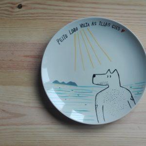 Plato cerámica Cies heyJuddy