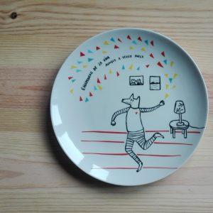 plato ceramica enamorao HeyJuddy