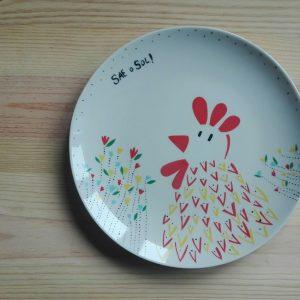 plato ceramica Sae O Sol HeyJuddy